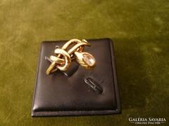 Gyémántos kígyó gyűrű
