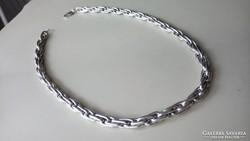 Ezüst gyönyörű fonású nyaklánc 925.  165 gr.