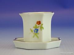0I380 Kisméretű Herendi porcelán gyertyatartó