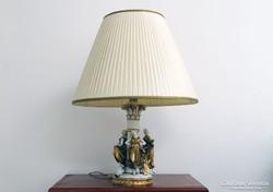 0I759 Antik nagyméretű Altwien porcelán lámpa 74cm