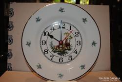 Hollóházi porcelán őzes óra