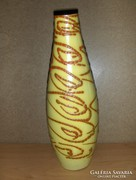 Iparművész jelzett kerámia váza (fp)