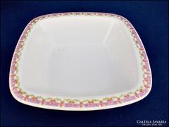 Bécsi rózsás pogácsás tál , porcelán kínáló