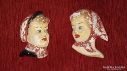 Dr. Rank fali kerámia fiú és lány fej