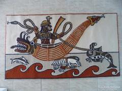 Perui tengeri csatajelentes faliszőnyeg 125 x 70 cm.
