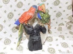 Különleges  egyedi Perui ásvány papagájok ,dísztárgy