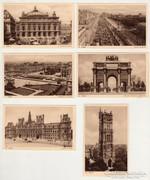Párizs képeslap, levelezőlap, 6 darab, francia 3.