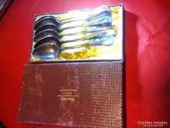 Antik ezüst teaskanal 6 db eredeti dobozaban.