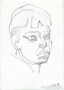 O. Kati egyvonalas ceruza rajz