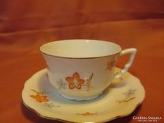 Szép Zsolnay teás csésze és csészealj
