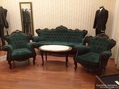 Barokk ülőgarnitúra 1+1+3
