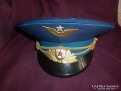 Régi szovjet katonai repülős tányérsapka