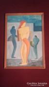 Kubista festmény Mattisch-Teutsch szignóval