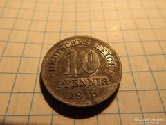 Szép 10 Pfennig 1918  !