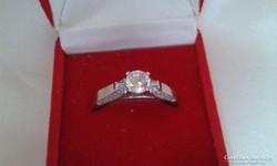 Soliter ezüst gyűrű