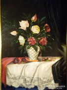 V168 Karlovsky B. jelzéssel 1937 rózsás csendélet