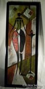 V198 Mátrai Katalin Kompozíció nőiség 100 x 35 cm