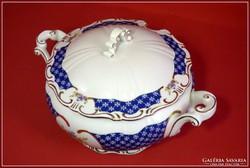 Zsolnay levesestál  Marie Antoinette dekorral