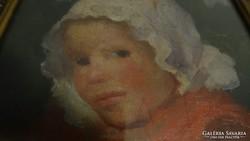 Borúth Andor :  Leány portré