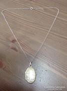 Antik ezüst nyaklánc fényképtartós ezüst medállal