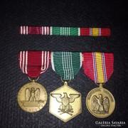 Eredeti USA, amerikai hadsereg kitüntetés, szalagsávokkal