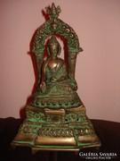 Buddha szobor vörös rézből