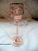 Kézzel festett antik likőrös pohár