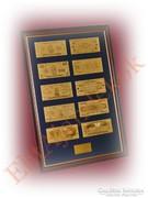 24K arany USA dollár fantázia bankjegy gyűjtemény