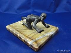 T048 Antik ón szerecsen néger fiú szobor