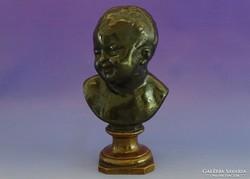 0I449 Antik bronz angyal fej puttó fej