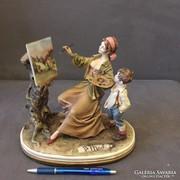 Capodimonte figuralis szoborcsoport!