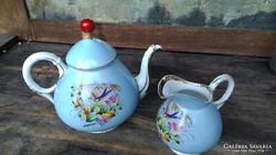 Antik Kézzel Festett  Porcelán Teás/Kávés Szett