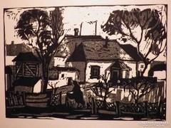 Alexin Andor:  Városkép 1966