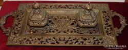 Hatalmas 56cm antik bronz tintatartó kalamáris.