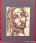 Pauer J / kócosan -női portré