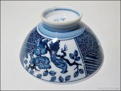 Jelzett kínai kézzel festett porcelán tálka