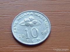 MALAJZIA MALAYSIA 10 SEN 2006 VIRÁG