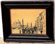 Antik tusrajz Velence 1900 körül Intakt !!