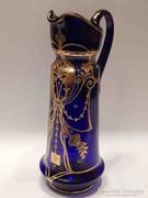 Gyönyörű antik kék-arany üveg kancsó