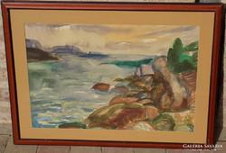 Litkei József (1924-1988) Balaton, Eredeti !!!