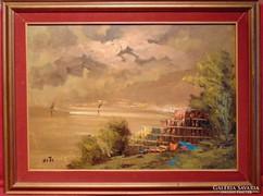 Vihar a tengerparton - gyönyörű tájkép