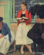 Magyar festő, XX. század : Pihenő
