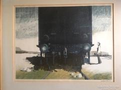Berg, Sven Bertil (Runaway Train) 1971 litográfia