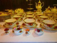 EXTRÉM Kuriózum 164db12.sz Royal Albert Angol ét kávés teás