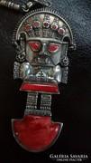 Hatalmas egyedi perui ezüst nyaklánc