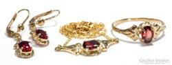 Gyonyoru antik ekszer szet 8krt arany AKCIO