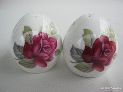 Rózsás angol Sandford porcelán fűszertartó pár