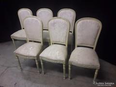 Antik bidermaier 6 darab szék