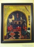 Perlrott Csaba Vilmos festmény