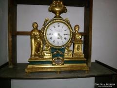 19. századi aranyozott fából készült antik óra eladó